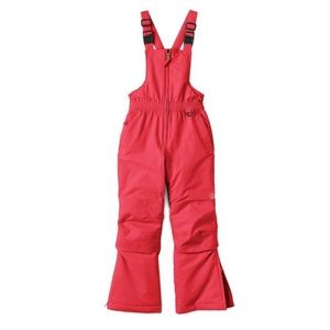 Lands' End Toddler Red Squall Snow Bibs Overalls